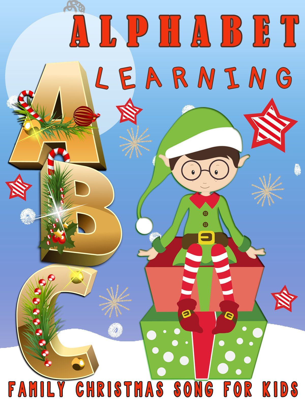 ABC Alphabet Learning Family Christmas Song For Kids