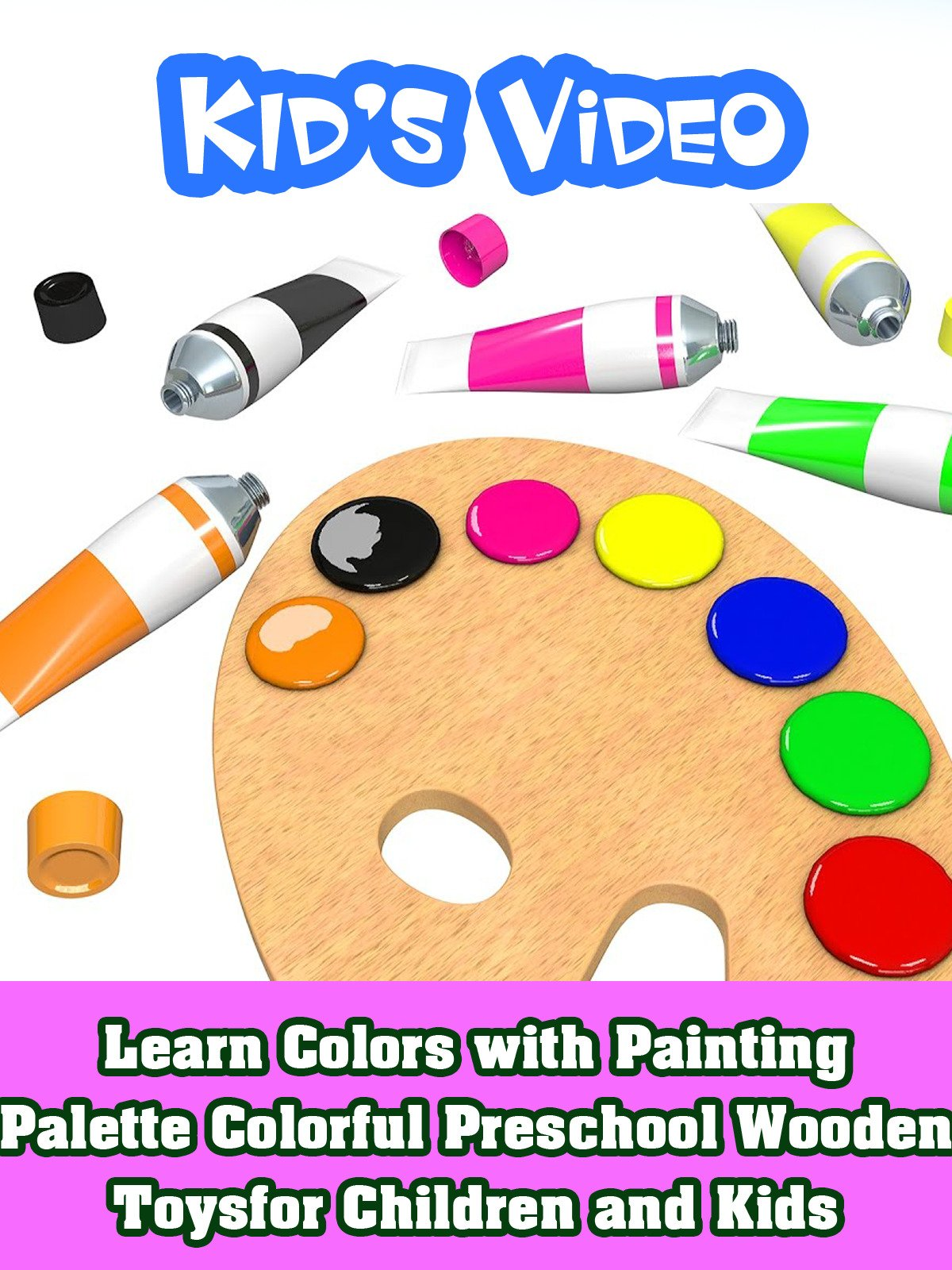 Learn Colors with Painting Palette Colorful Preschool Wooden Toys for Children and Kids on Amazon Prime Instant Video UK