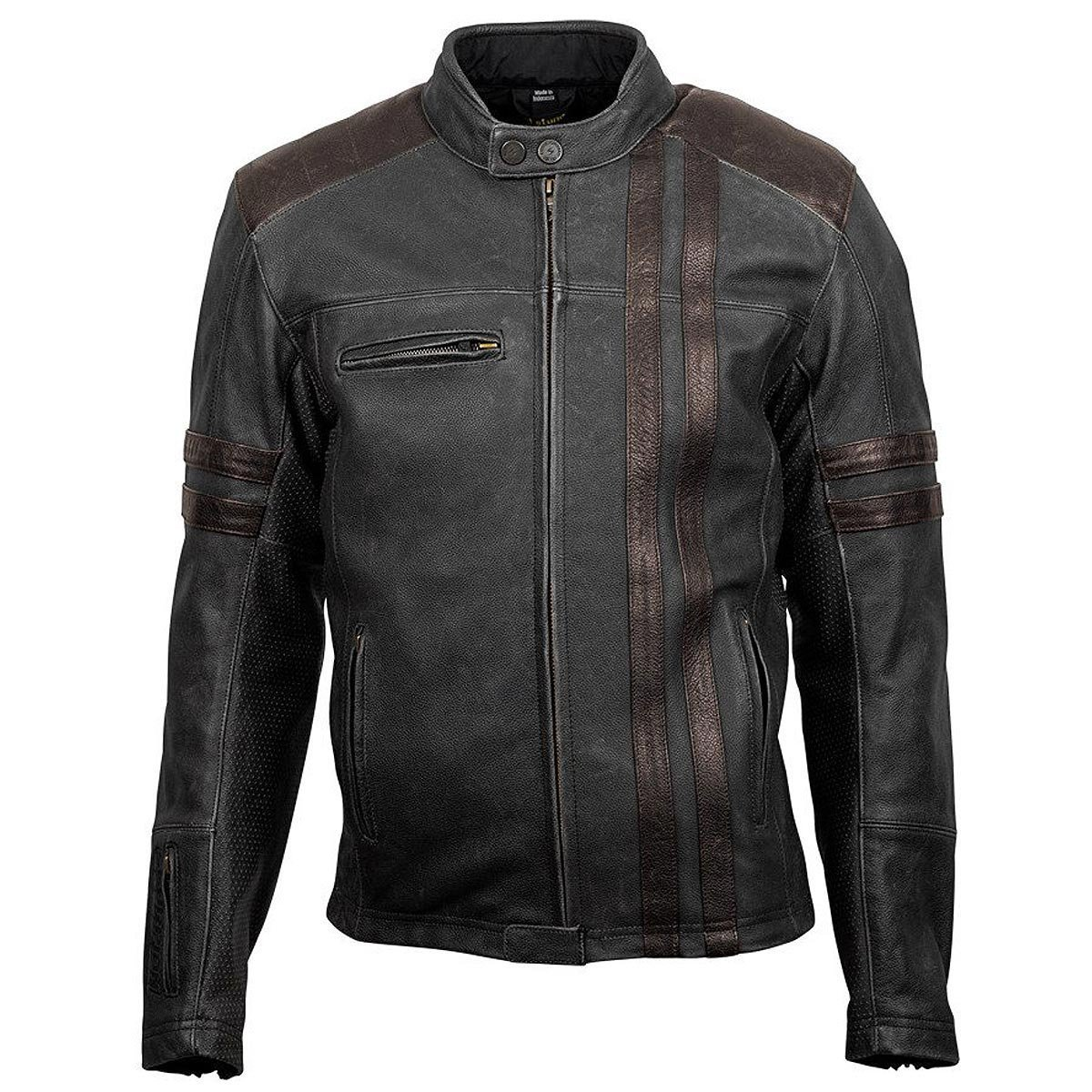 ScorpionExo 1909 Men's Leather Motorcycle Jacket (Brown, Large) 0