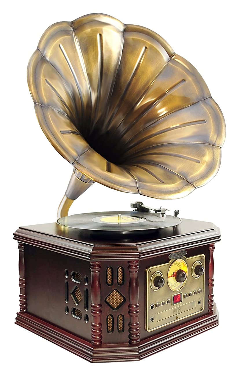 Pyle PVNP48BCD Vintage Bluetooth Turntable System, Gramophone/Phonograph Style 0