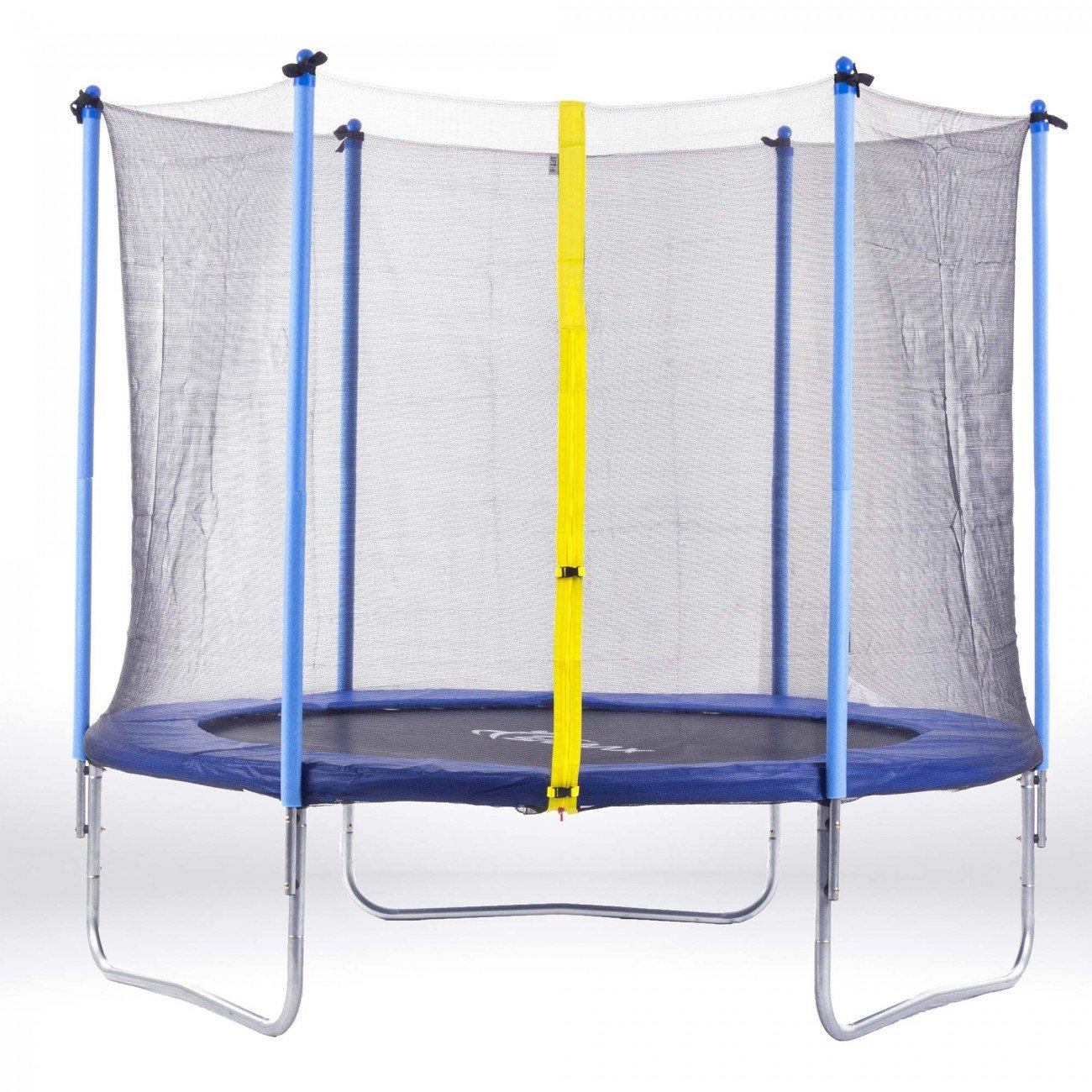 SAMAX Trampolin Gartentrampolin 4,27m (14 ft) Sicherheitsnetz blau