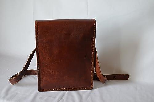 Handmade Standing Ipad Leather Messenger Satchel Bag