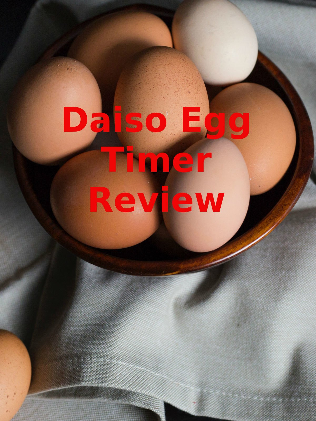 Review: Daiso Egg Timer Review