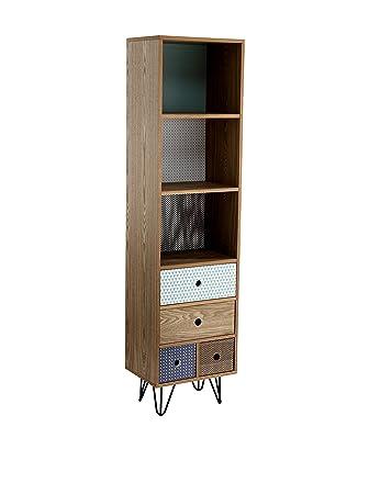 Wink design  Odense- Bibliothèque 4 tiroirs en bois multicolore