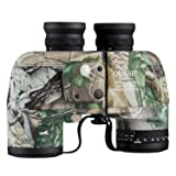 QUNSE 10x50 Military Binoculars for Adults with Range Finder and Compass, Suitable for Hunting, Bird Watching and Traveling (10x50, Army) (Color: 10X50-1)