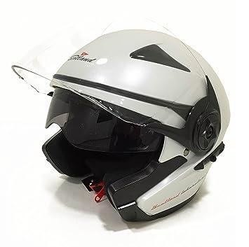 Scotland 120007-bn-xl Casque Force 03,1 Moto / Scooter avec Visière Double, Blanc