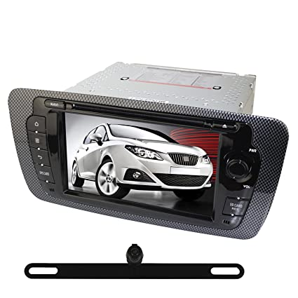 YINUO 2 DIN 7 inch touchscreen car DVD player + Reverse Camera for SEAT IBIZA 2009-2013 with special CanBus Decoder Box with 800 * 480 screen support GPS iPhone IPOD Steering Wheel Control Bluetooth DVD DVR AV-IN with Free External Mic & 8GB cards car