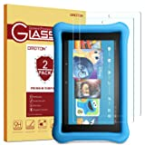 [2 Pack] 2017 All-New Fire HD 8 / Fire HD 8 Kids Edition Screen Protector - OMOTON Tempered Glass Screen Protector for All New Fire HD 8 and Kids Edition (2017 Release)