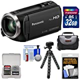 Panasonic HC-V180 HD Video Camera Camcorder with 32GB Card + Case + Flex Tripod + Kit (Color: Black)