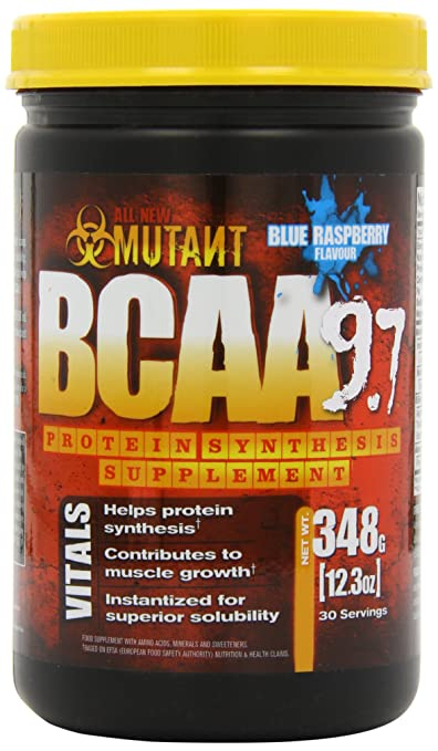 Mutant BCAA 9.7 - Blue Raspberry - 384g, 1er Pack (1 x 384 g)