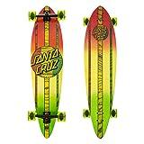 Santa Cruz Mahaka Rasta Fade Pintail Cruzer Complete Skateboard, Assorted, 39.0in L x 9.58in W (Color: Rasta, Tamaño: 9.58)
