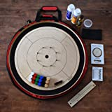 The Black Tournament Board Crokinole Kit (Meets NCA Standards) (Color: Maple, Tamaño: Tournament Size)