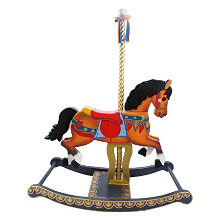 Primary Products Ltd Cheval à Bascule Teamson Kids Manège Style Multicolore