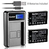 Kastar Battery (X2) & LCD USB Charger for Kodak KLIC-5001 and Easyshare P712 P850 P880 Z730 Z760 Z7590 DX6490 DX7440 DX7590 DX7630 Sanyo DB-L50 DMX-WH1 HD1010 FH11 HD2000 VPC-WH1 HD2000 HD1010 HD1000