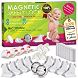 Invisible Magnetic Cabinet Locks Child Safety Kit, Secure Kitchen & Bedroom Cabinets. Cupboards with 8 Baby Proofing Cabinets Door & Drawer Locks for Kids & Toddlers. 2 Keys & 3M Adhesive Straps. (Color: 8 locks+2 keys+4 corner guards+4 socket covers)