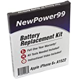 Battery Replacement Kit for Apple iPhone 6+ A1522 with Installation Video, Tools, and Extended Life Battery