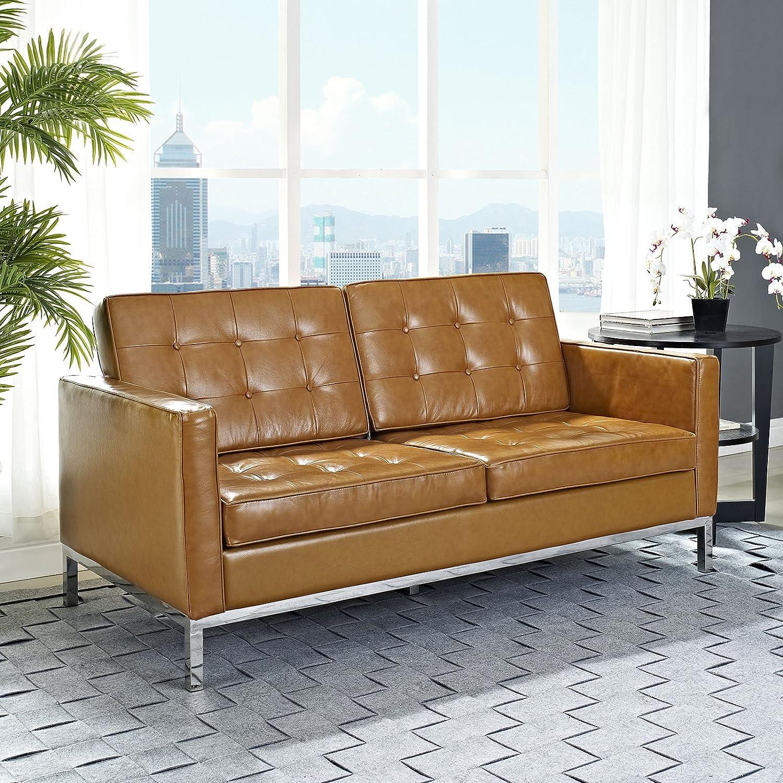 Loft Leather Loveseat - Tan