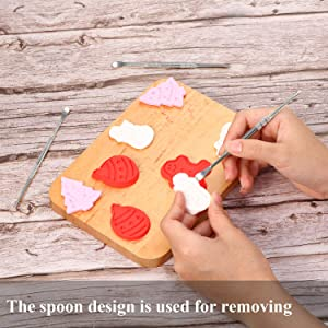 6 Packs Wax Carving Tool Wax Tool Carving Tool Stainless Steel Sculpting Tool Spoon 4.75 Inch Gold