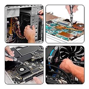 122 in 1 Professional Laptop Repair Screwdriver Set, Precision PC, Computer Repair Kit, with 101 Magnetic Bit and 21 Practical Repair Tools, Suitable for MacBook, Tablet, PS4, Xbox Controller Repair (Color: GRAY)