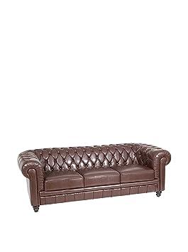 3er-sofa karosteppung braun