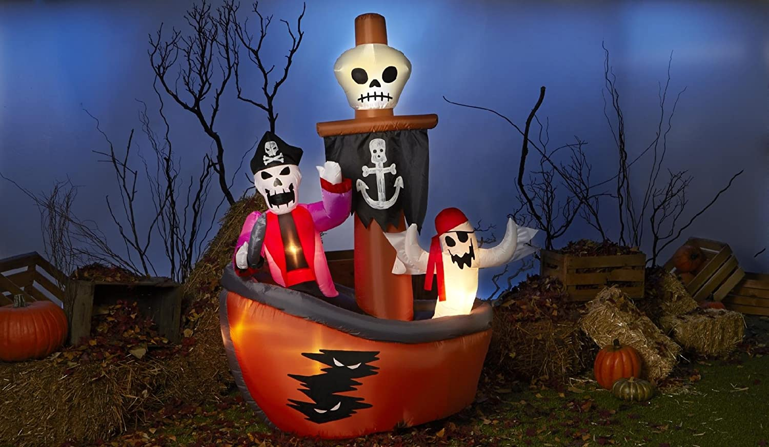 Outdoor inflatable halloween decorations - Totally Ghoul Airblown Halloween Decoration Ghost Pirate Ship Airblown Inflatables Make A Wonderful Addition To Your Outdoor Halloween D Cor