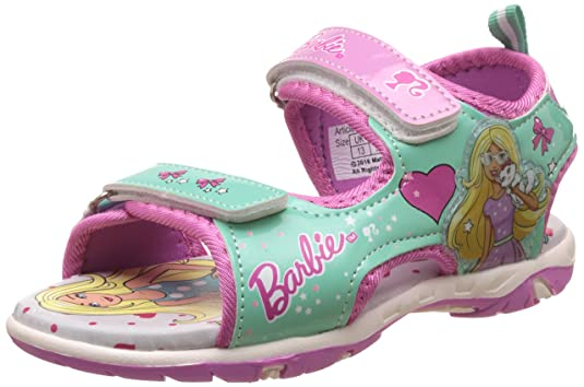 Barbie Girl's Sea Green and Pink Fashion Sandals - 11 kids UK/India (30 EU) at amazon