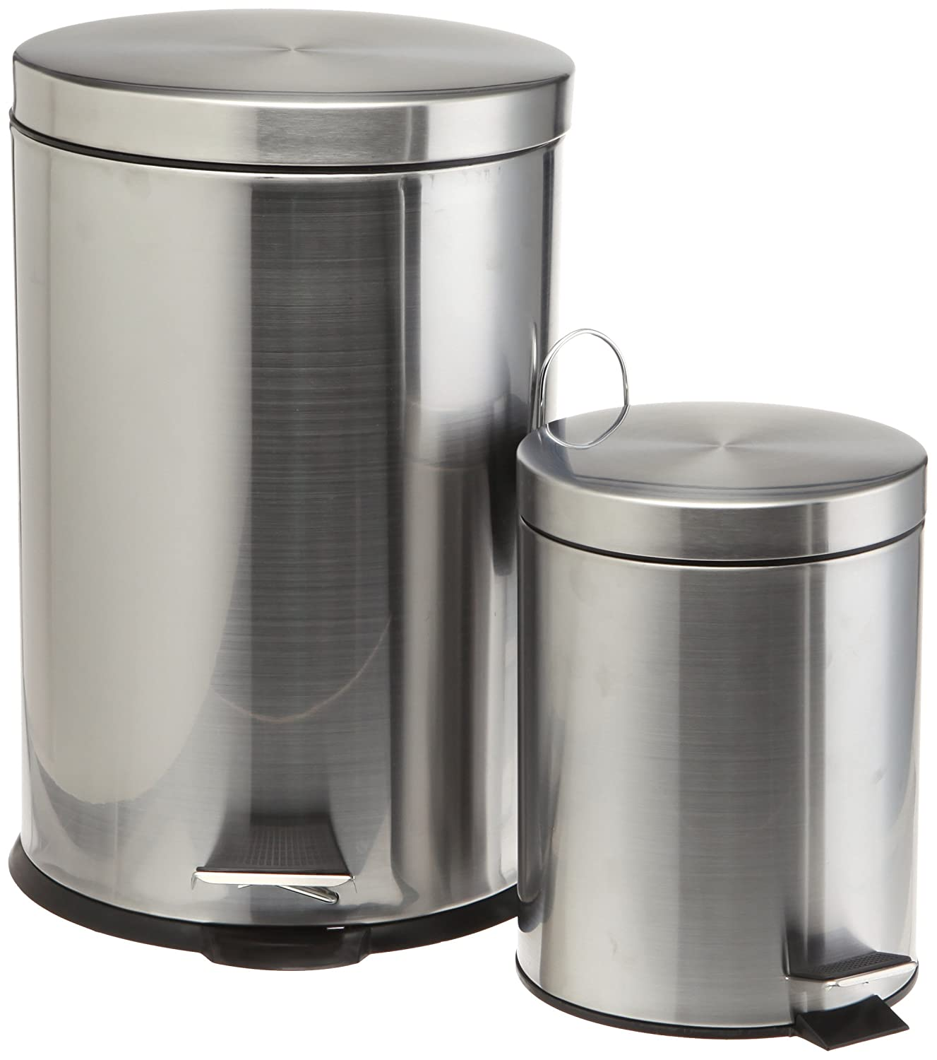 Stainless Steel Kitchen Trash Cans: Prime Pacific Pro Cook Stainless Steel Trash Cans, Set Of