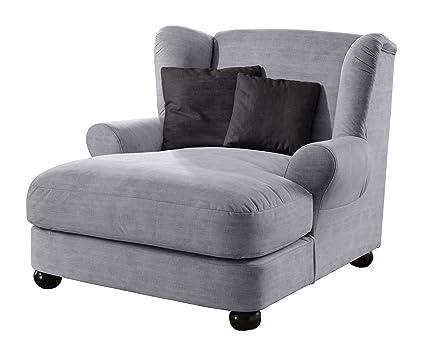 Cavadore 2271686 XXL-Sessel Love Seats, Schaumstoff, grau, 120 x 142 x 92 cm