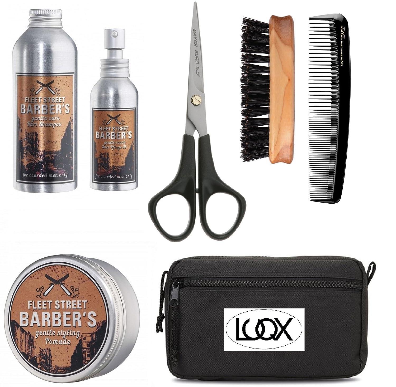 Bartpflege-set von LUQX Bartpflege Set mit Bartöl Bartkamm Bartbürste und Bartschere für kurze Bärte bis Vollbart