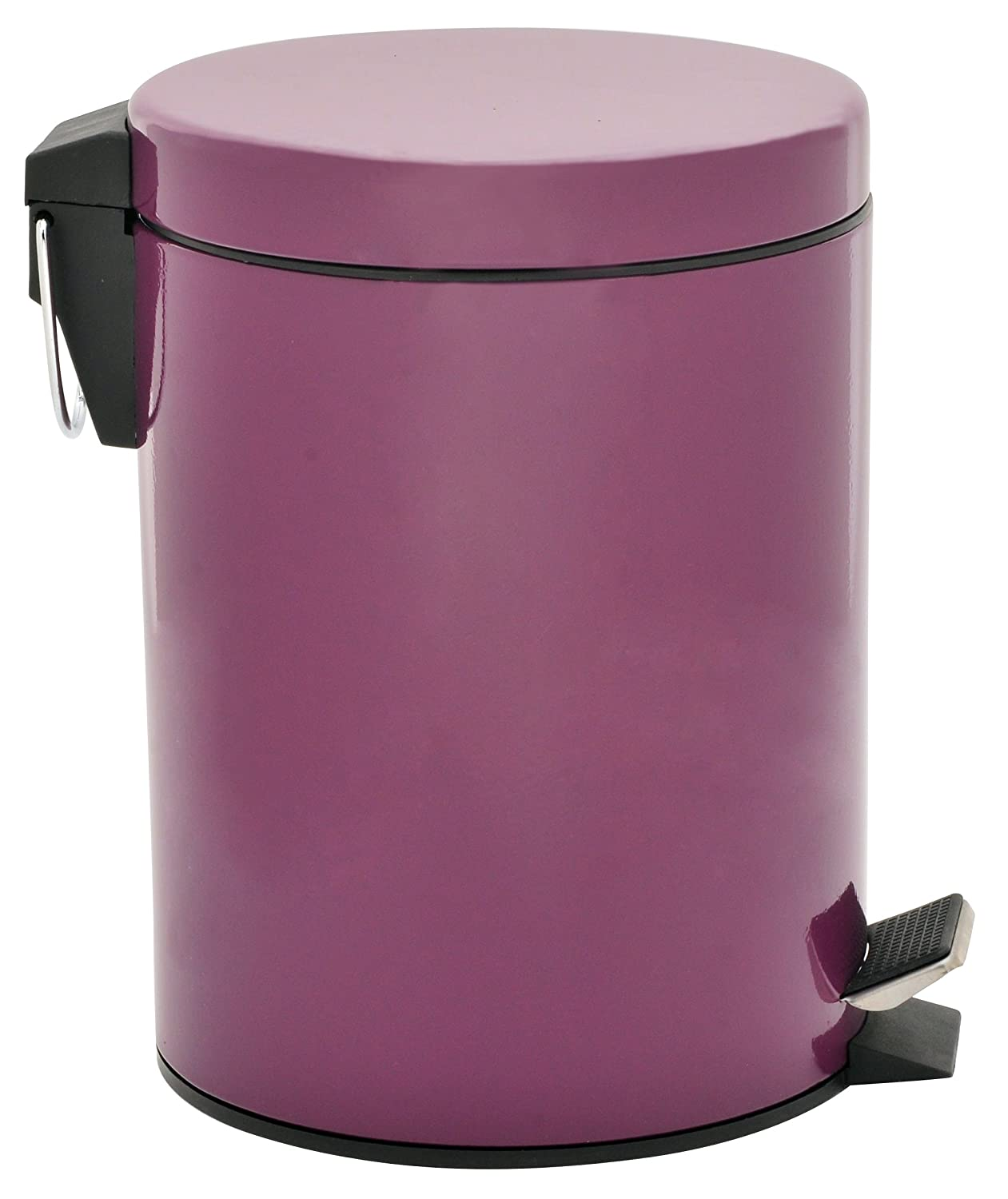 Hopeful by Long-Lived 5 Liter/1.3 Gallon Round Step Color Trash Can Purple at Sears.com