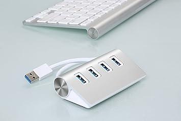 Cateck® 4 Port USB 3.0 Premium Aluminum USB Hub mit
