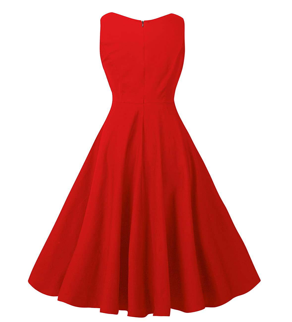 NINEWE Women's Classy Audrey Hepburn 1950s Vintage Rockabilly Swing Dress 2