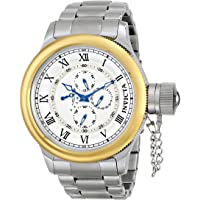 Invicta 15932 Russian Diver Quartz Chronograph Antique Silver Dial Mens Watch