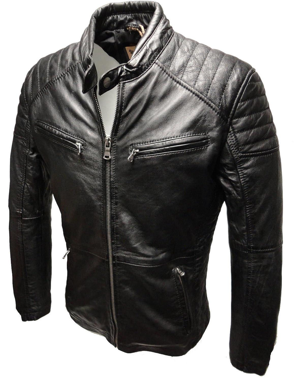 Herren Lederjacke LEON von RICANO aus Echt Lamm Nappa Leder (schwarz) jetzt bestellen