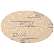 """3M Clean Sanding Disc 216U, A Weight Paper, Hook and Loop Attachment, Aluminum Oxide, 5"""" Diameter, P220 Grit (Pack of 100)"""
