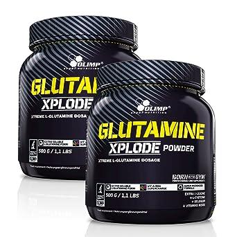 Olimp L-Glutamine Xplode Powder 2 x 500g Dose Zitrone