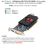 AMD Radeon HD 7570 1GB GDDR5 PCIe x16 DVI DisplayPort Video Card Dell 4C5DK Low Profile