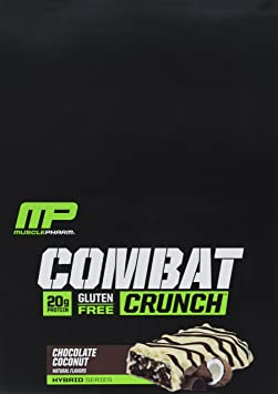 MusclePharm Combat Crunch Chocolate Coconut - 12 Riegel