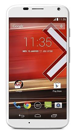 Motorola X Smartphone débloqué 4G (Ecran: 4.7 pouces - 16 Go - Android 4.4 KitKat) Blanc