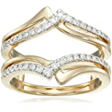14k Yellow Gold Diamond Solitaire Enhancer Ring (1/4cttw, I Color, I3 Clarity), Size 6