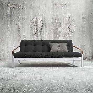 Karup–Poetry, sofá cama compuesto de futón sobre estructura de madera