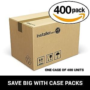 InstallerParts (400 Pack) DSL Splitter (Line 3 & 4) White (Color: White, Tamaño: 400 Pack)