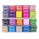 Ink Pad Stamps,Craft Ink Pad Stamps 20 Colors Crafts Ink Pads for Kid's Rubber Stamp Scrapbooking Card Making Beautiful Water-Soluble Colors-Pack of 20