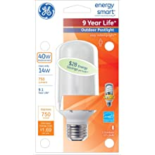 GE Lighting 49894 14 Watt (40 Watt equivalent) Energy Smart Postlight Light Bulb
