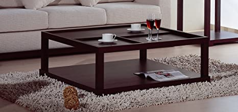 BH Design Parson Coffee Table with Removable Tray