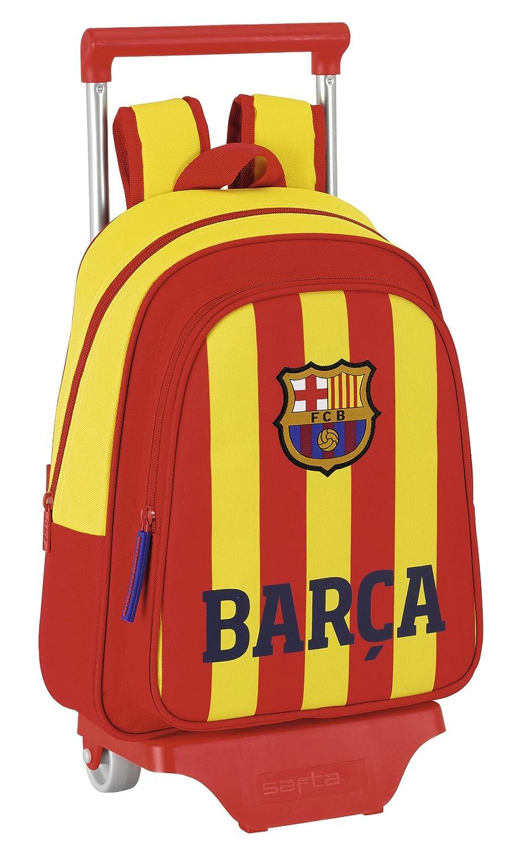 Barça-Senyera - Mochila infantil con ruedas, 27 x 34 x 10 cm