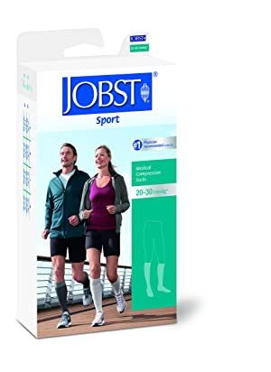 BSN Medical 7529010 JOBST Sock, Knee High, 20-30 mmHg, Closed Toe, Small, Blue/Grey (Color: Grey, Tamaño: Small)