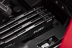 HyperX Fury 128GB 3200MHz DDR4 Ram CL16 DIMM (Kit of 2) Black Desktop Memory with Low-Profile Heat Spreader (Tamaño: 128GB kit (2 x 64GB))