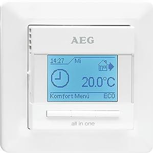 AEG 229702 FRTD 903 Raum und Fußbodentemperaturregler Komfort mit Schaltuhr, 16 A, 230 V, Unterputz  BaumarktKundenbewertung und weitere Informationen