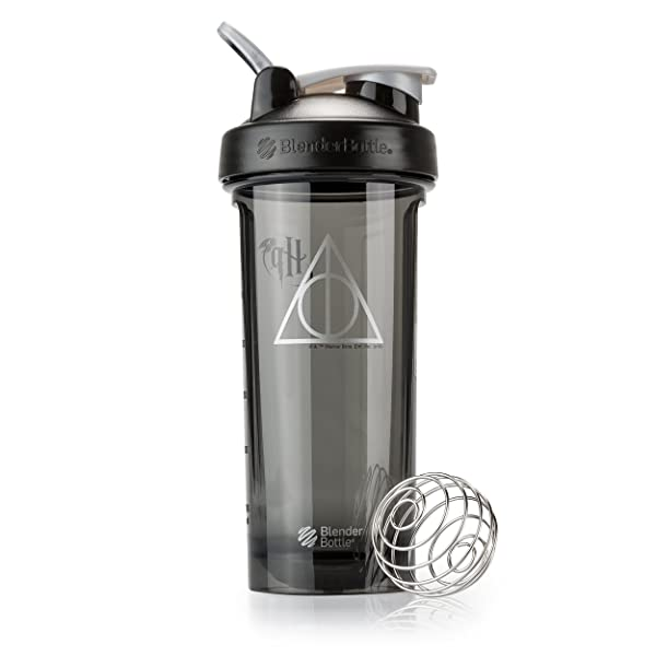BlenderBottle Harry Potter Pro Series 28-Ounce Shaker Bottle, Deathly Hallows (Color: Deathly Hallows)